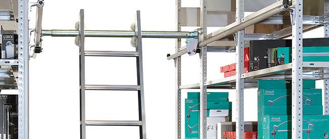 Aluminium-Podestleitern einseitig