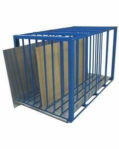 Blechlager-Box - Zur Lagerung von Blechen und Platten, H1500xB1100xT2500, RAL 5010 enzianblau