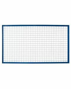 Gitter-Rückwand für Rahmen S610-M18, Gitterhöhe 1000 mm, Feldbreite 3600 mm, Rahmen blau, Maschengitter verzinkt
