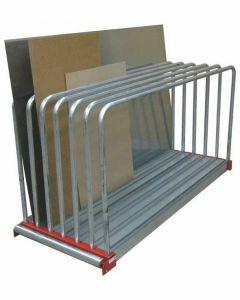 Tafelregal - Zur Lagerung von Blechen und Platten, H1000xB800xT2030, verzinkt und RAL 3000 feuerrot