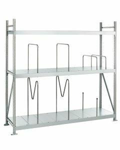Weitspannregal WS 3000, Grundregal, Stahlpaneele, H2000xB1500xT1000 mm, 3 Fachebenen, verzinkt