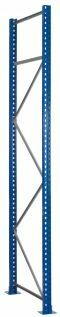 Rahmen - S645-B25, Höhe 8000mm, Tiefe 1100mm, RAL 5010 enzianblau/ verzinkt