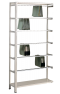 Pendelhefteregal, Schraubsystem, Anbauregal, Zippel, H2300xB1000xT350 mm, 7 Pendelstangen, verzinkt/ RAL 7035 lichtgrau