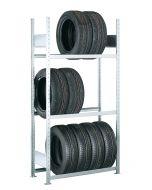 Räder-/Reifenregal, Grundregal, H2000xB1050xT400 mm, Fachlast 150 kg, Feldlast 2000 kg, verzinkt