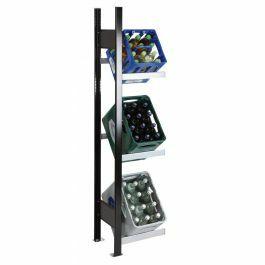 Getränkekisten-Regal, AR, H1800xB400xT300 mm, schwarz/silber