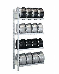 Felgenregal, Anbauregal, H2500xB1000xT300 mm, Fachlast 150 kg, Feldlast 1300 kg, verzinkt