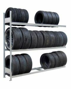 Räder-/Reifenregal, Anbauregal, H4500xB2000xT400 mm, Fachlast 400 kg, Feldlast 2400 kg, verzinkt