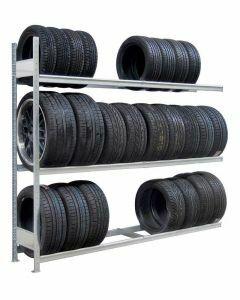 Räder-/Reifenregal, Anbauregal, H4500xB1500xT400 mm, Fachlast 400 kg, Feldlast 2400 kg, verzinkt