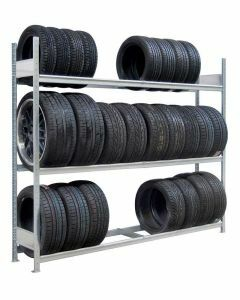 Räder-/Reifenregal, Grundregal, H2000xB2500xT400 mm, Fachlast 400 kg, Feldlast 1200 kg, verzinkt