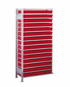 Kleinteileregal-Set, Anbauregal, H2000xB1000xT500 mm, Fachlast 150 kg, Feldlast 2400 kg, verzinkt