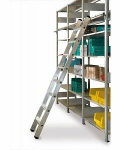 Aluminium-Regalleiter - einhängbar, Leiterlänge 3,69 m - Schulte Lagertechnik