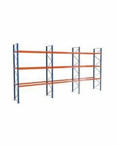 Palettenregal, Komplettregal, 4 Lagerebenen, H5000xB8444xT1100 mm, Palettengewicht bis 1080 kg,  36 Palettenplätze, RAL 5010 / RAL 2004