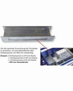Schlitzwanne - für Schubladenunterteilung 70x214x425mm Art.-Nr.: 16212