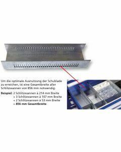 Schlitzwanne - für Schubladenunterteilung 115x107x425mm Art.-Nr.: 16213