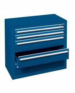 Schubladenblock, H1100xB1000xT500mm, RAL 5010 enzianblau