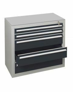 Schubladenblock, H900xB1000xT500mm, RAL 7016 anthrazit